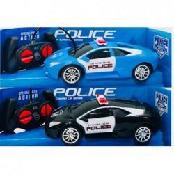 auto policía con control