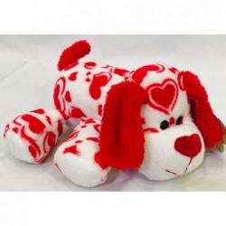 perro acostado corazon