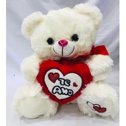 oso con moño y corazón