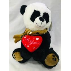 panda con corazón