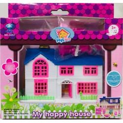 casa con accesorios en caja