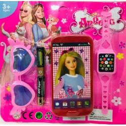 celular con accesorios en...